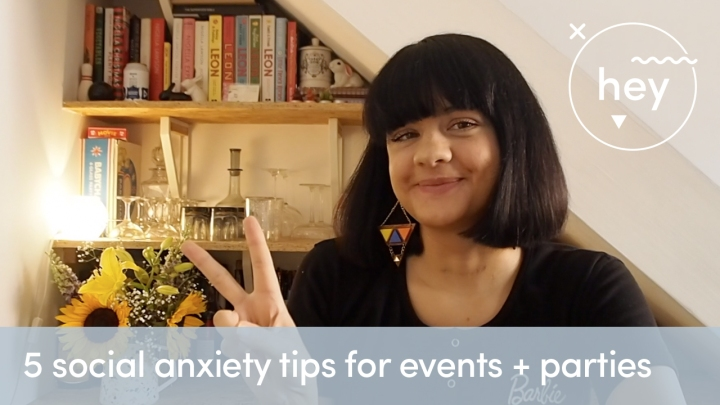 5 social anxiety tips for events + parties: my latest YouTube video x